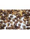Superduo Beads Luster Bronze 1/2 Topaz 5x2,5mm - 10gr