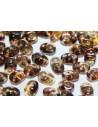 Perline Superduo Luster Bronze 1/2 Topaz 5x2,5mm - 10gr
