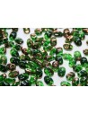 Superduo Beads Luster Bronze 1/2 Chrysolite 5x2,5mm - 10gr