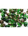 Perline Superduo Luster Bronze 1/2 Chrysolite 5x2,5mm - 10gr