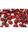 Perline Superduo Luster Bronze 1/2 Siam Ruby 5x2,5mm - 10gr