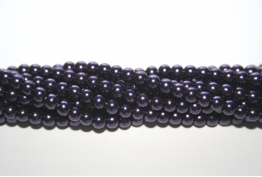 Glass Pearls Strand Blue Indigo 4mm - 105pcs