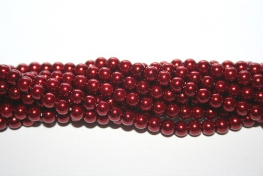 Perle Cerate Vetro Bordeaux 4mm - 105pz