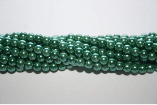 Glass Pearls Strand Aqua Green 4mm - 105pcs