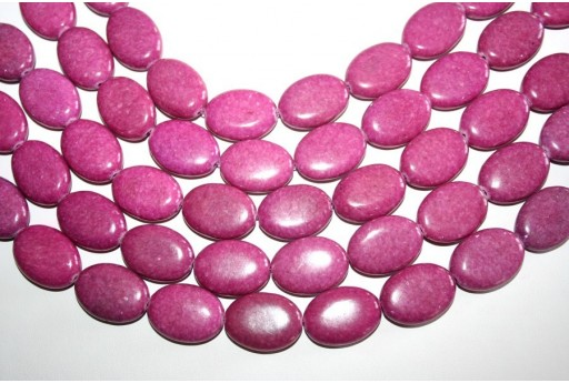 Jasper Beads Fuchsia Oval 18X25mm - 1pz