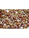 Superduo Beads Bronze Rainbow A 5x2,5mm - 10gr