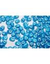 Superduo Beads Gold Shine Blue 5x2,5mm - 10gr