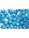 Superduo Beads Gold Shine Blue 5x2,5mm - 10gr