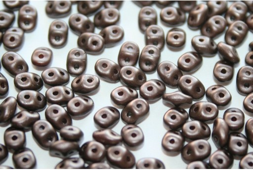 Superduo Beads Pastel Dark Brown/Bronze 5x2,5mm - 10gr