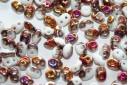 Superduo Beads White Sliperit 5x2,5mm - 10gr