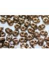 Perline Superduo Bronze-Crystal 5x2,5mm - 10gr