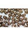 Superduo Beads Bronze-Crystal 5x2,5mm - 10gr