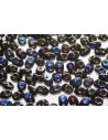 Superduo Beads Blue Iris-Jet 5x2,5mm - 10gr
