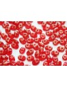 Superduo Beads Gold Marbled-Siam Ruby 5x2,5mm - 10gr