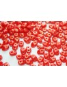 Superduo Beads Gold Marbled-Opaque Red 5x2,5mm - 10gr