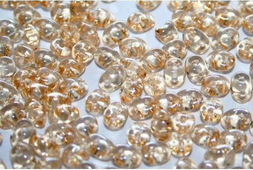 Superduo Beads Luster-Transparent Champagne 5x2,5mm - 10gr