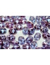 Superduo Beads Transparent Amethyst 5x2,5mm - 10gr