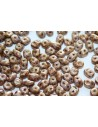 Superduo Beads Luster-Trans. Gold/White 5x2,5mm - 10gr