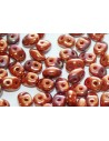 Superduo Beads Luster-Opaque Red 5x2,5mm - 10gr