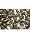 Perline Superduo Luster-Metallic Olivine 5x2,5mm - 10gr