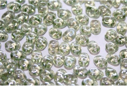 Perline Superduo Luster-Transparent Lt. Green 5x2,5mm - 10gr