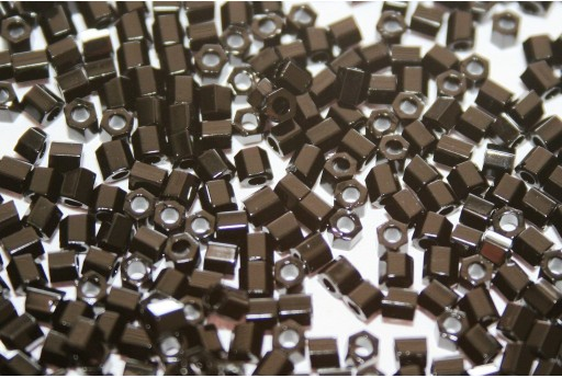 Hexagon Toho Seed Beads Opaque Jet 8/0 - 10gr