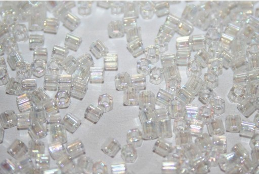 Hexagon Toho Seed Beads Transparent Rainbow Crystal 8/0 - 10gr
