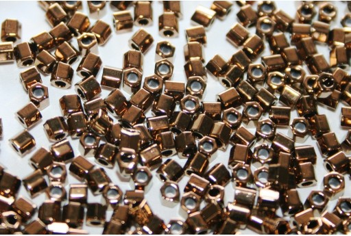 Hexagon Toho Seed Beads Bronze 8/0 - 10gr
