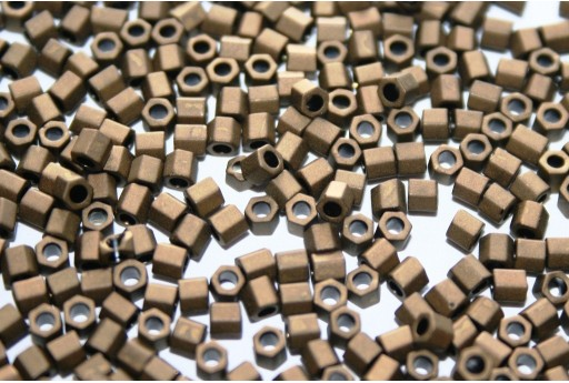 Hexagon Toho Seed Beads Matte Color Dark Copper 8/0 - 10gr