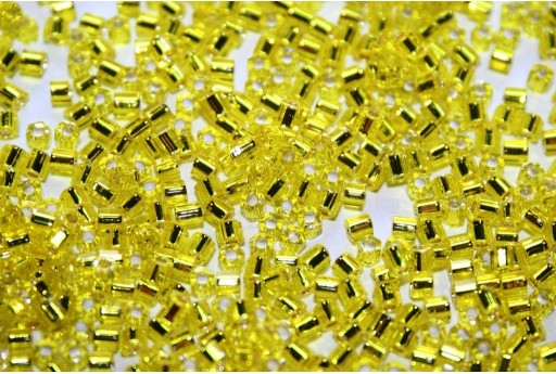 Perline Toho Hexagon Silver Lined Lemon 11/0 - 10gr