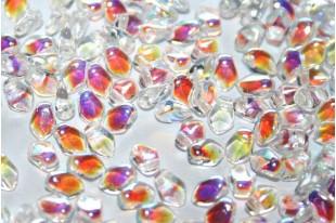 Czech Glass Beads Gekko® Crystal AB 3x5mm - 5gr