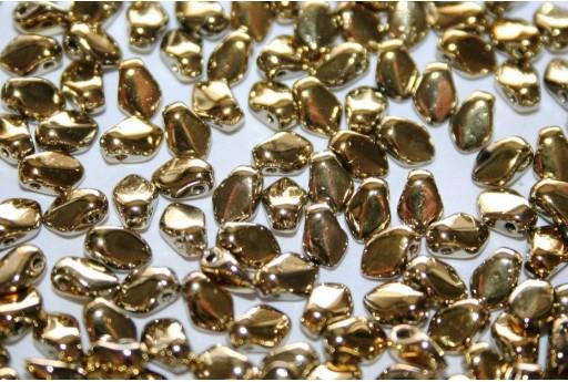 Czech Glass Beads Gekko® Crystal Amber Full 3x5mm - 5gr