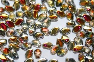 Czech Glass Beads Gekko® Crystal Marea 3x5mm - 5gr