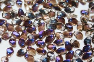 Czech Glass Beads Gekko® Crystal Azuro 3x5mm - 5gr