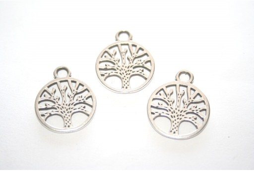 Silver Tree of Life Pendant 18x22mm - 2pcs