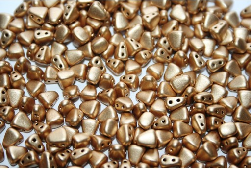 Czech Glass Beads NIB-BIT Matte Metallic Flax 6x5mm - 10gr
