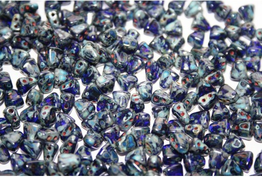 Perline NIB-BIT Cobalt Picasso 6x5mm - 10gr