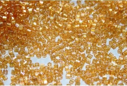Hexagon Toho Seed Beads Transparent Rainbow Light Topaz 11/0 - 10gr
