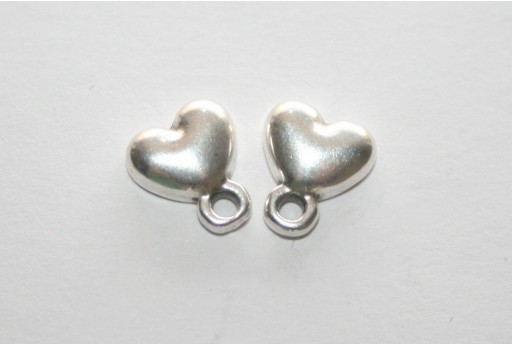 Silver Earring Heart 7,5x9mm - 2pcs
