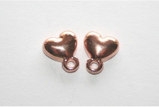 Rose Gold Earring Heart 7,5x9mm - 2pcs