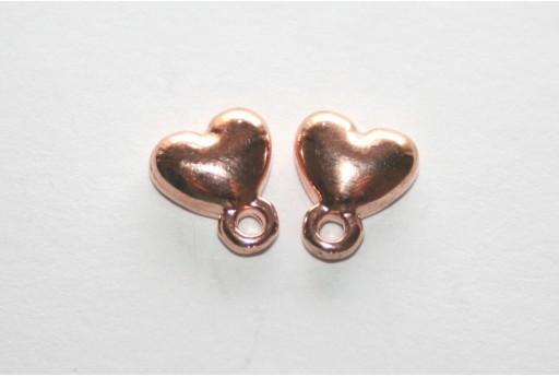 Rose Gold Earring Heart 7,5x9mm - 2pcs