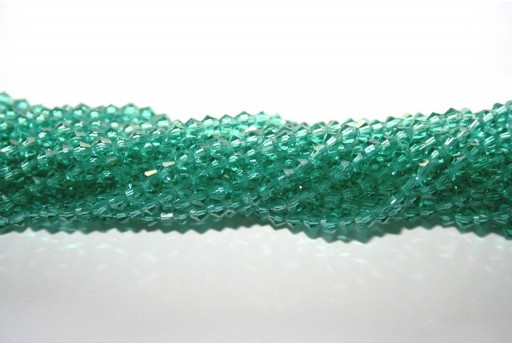 Chinese Crystal Beads Bicone Dark Green 3mm - 145pcs