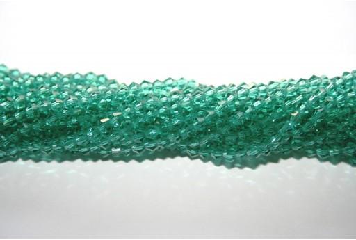 Cristallo Cinese Bicono Verde Scuro 3mm - 145pz