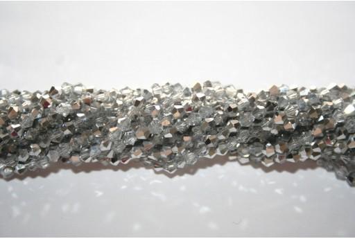 Cristallo Cinese Bicono Argento 3mm - 145pz