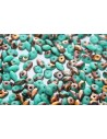 Superduo Beads Matte Turquoise-Apollo Gold 5x2,5mm - 10gr