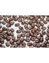 Superduo Beads Matte Luster-Trans. Gold/Opaque Umber 5x2,5mm - 10gr
