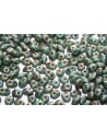 Superduo Beads Matte Luster Transp. Gold/Turquoise 5x2,5mm - 10gr