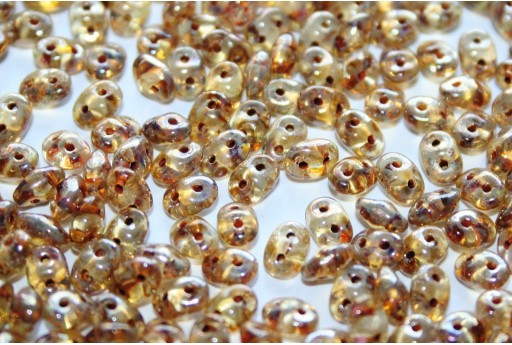 Superduo Beads Crystal-Picasso 5x2,5mm - 10gr