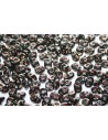 Superduo Beads Jet-Picasso Silver 5x2,5mm - 10gr