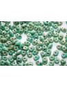 Superduo Beads Turquoise-Picasso Silver 5x2,5mm - 10gr
